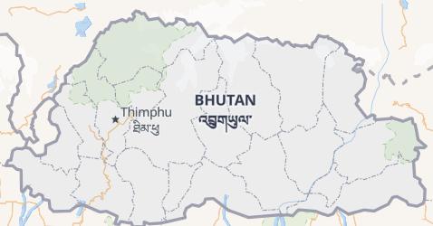 Mappa di Bhutan