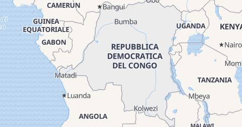 Mappa di Congo Democratico