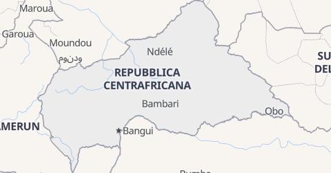 Mappa di Repubblica Centraficana