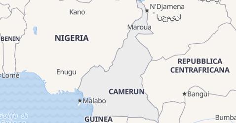 Mappa di Camerun