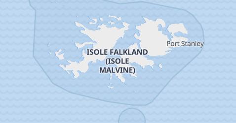 Mappa di Isole Falkland