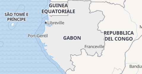 Mappa di Gabon