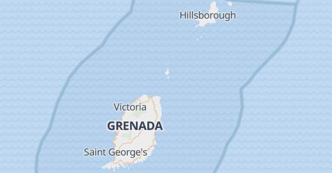 Mappa di Grenada