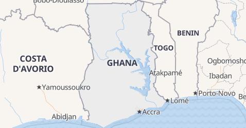 Mappa di Ghana
