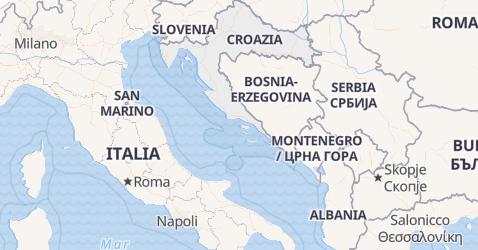 Mappa di Croazia