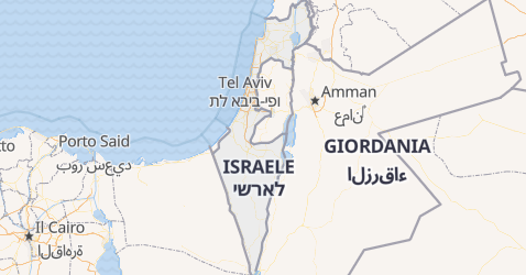 Mappa di Israele