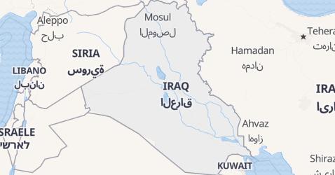 Mappa di Iraq