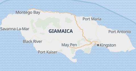 Mappa di Giamaica