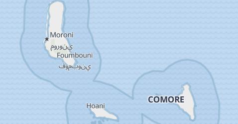 Mappa di Comores