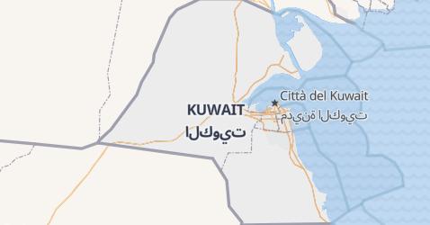 Mappa di Kuwait