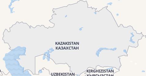 Mappa di Kazakhstan