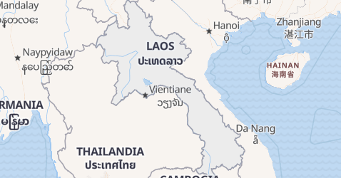Mappa di Laos