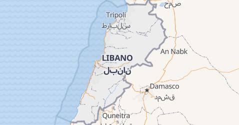 Mappa di Libano