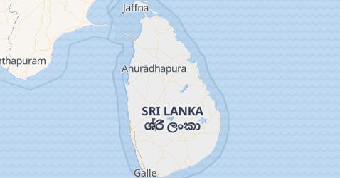 Mappa di Sri Lanka