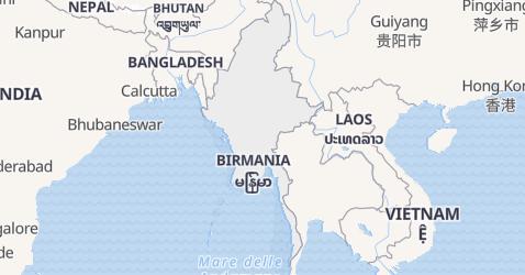 Mappa di Myanmar