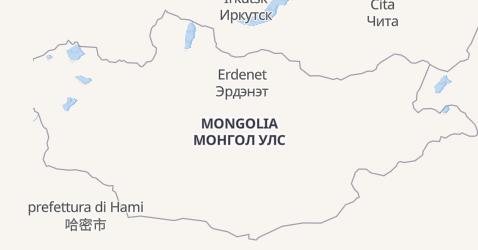 Mappa di Mongolia