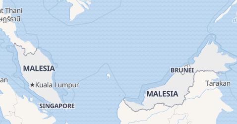 Mappa di Malaysia