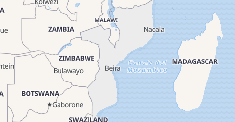 Mappa di Mozambico