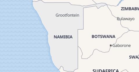 Mappa di Namibia