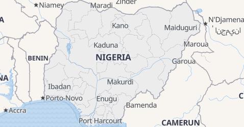 Mappa di Nigeria