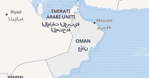 Mappa di Oman