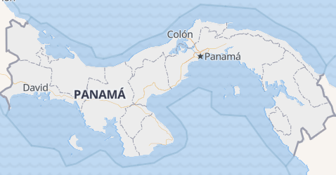 Mappa di Panama