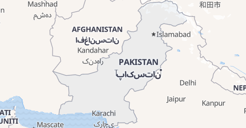Mappa di Pakistan