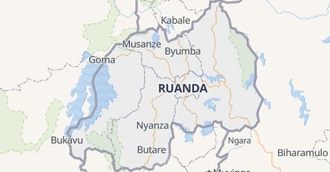 Mappa di Ruanda