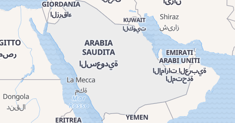 Mappa di Arabia Saudita