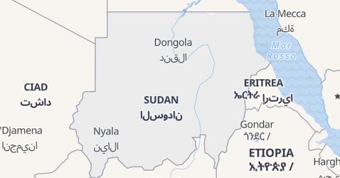 Mappa di Sudan