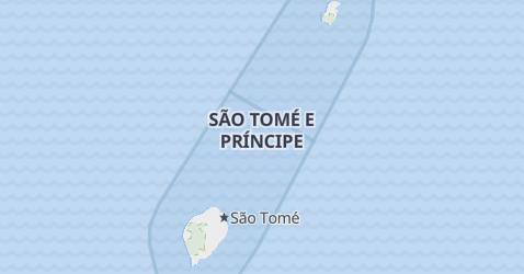 Mappa di Sao Tome e Principe