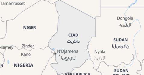 Mappa di Ciad