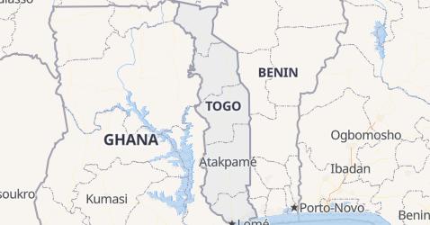 Mappa di Togo