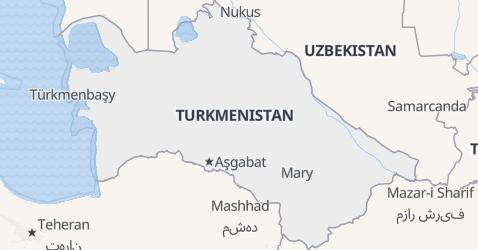 Mappa di Turkmenistan
