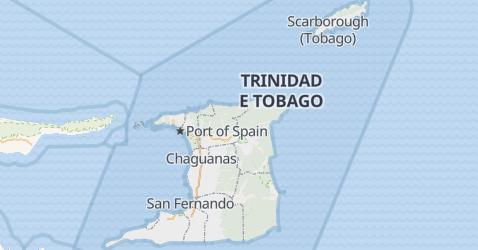 Mappa di Trinidad e Tobago