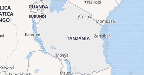 Mappa di Tanzania