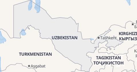 Mappa di Uzbekistan