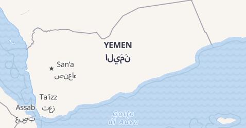 Mappa di Yemen
