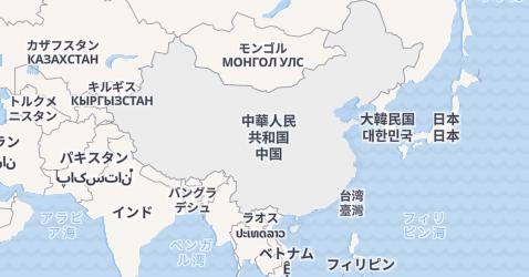 中華人民共和国地図