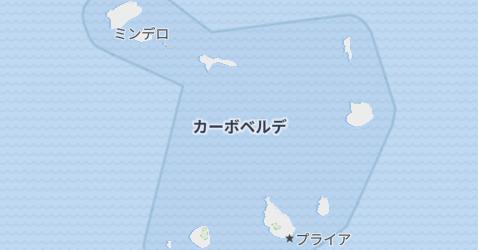 カーボ・ヴェルデ共和国地図