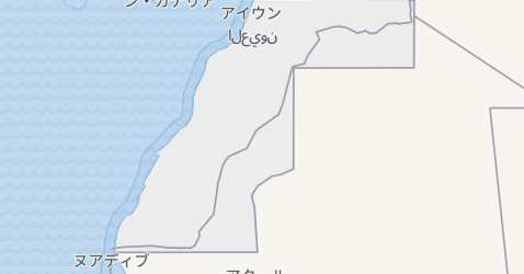 西サハラ地図