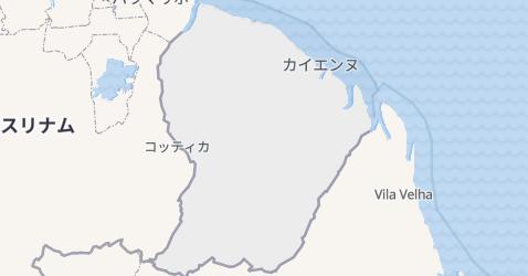 仏領ギアナ地図