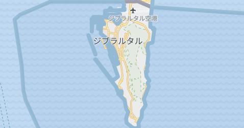 ジブラルタル - イギリス地図