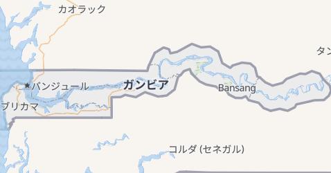 ガンビア地図