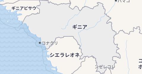 ギニア地図