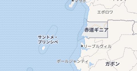 赤道ギニア共和国地図