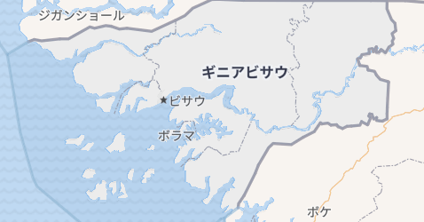 ギニア・ビサオ共和国地図