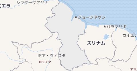 ガイアナ地図
