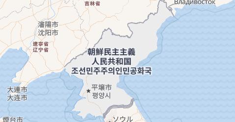 北朝鮮地図