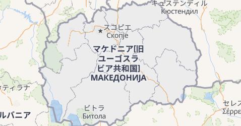 マケドニア地図